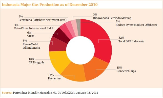 gas producers indonesia