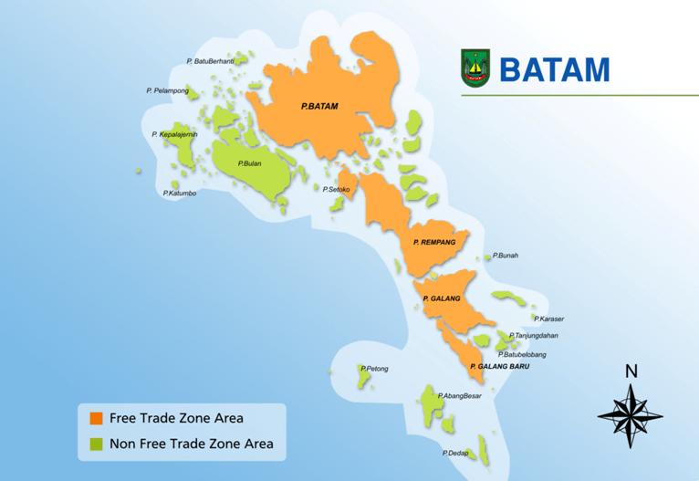 Batam Free Trade Zone Map Cekindo
