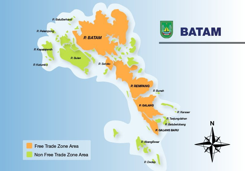 batam free trade zone map - cekindo