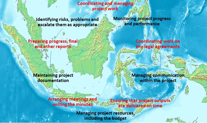 Project coordination in Indonesia