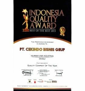 Indonesian Quality Award_Cekindo Bisnis Grup