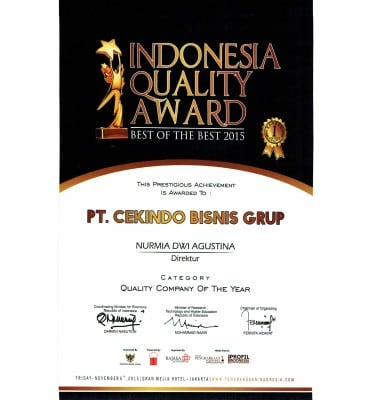 cekindo quality company award