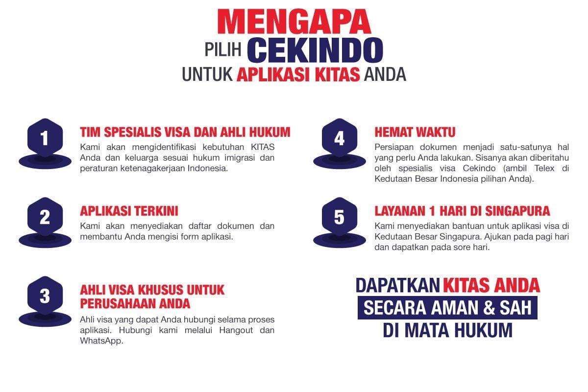 Mengapa pilih Cekindo untuk Aplikasi KITAS di Indonesia