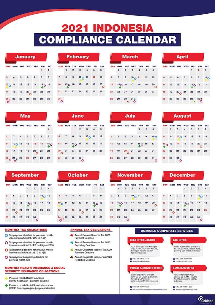 2021 Indonesia Compliance Calendar