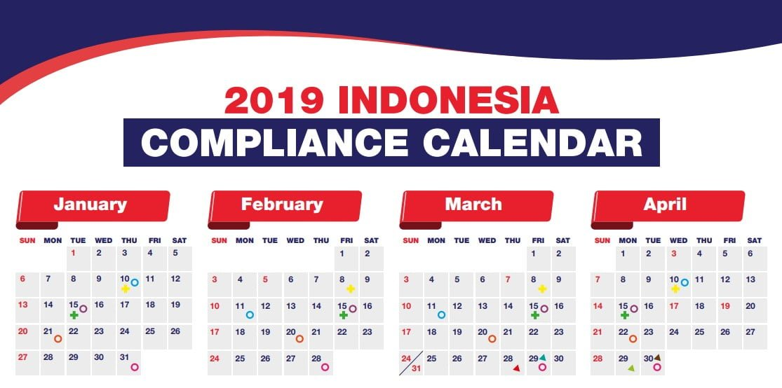 Indonesian 2019 Compliance Calendar
