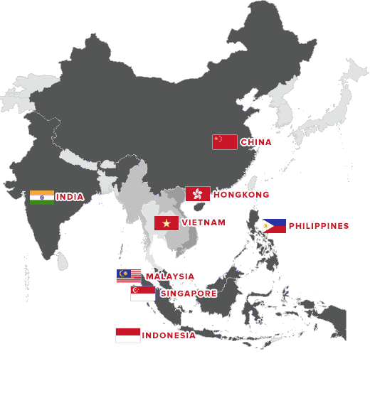 InCorp APAC Regional Map