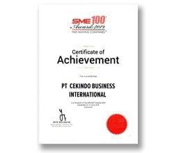 SME 100 Awards 2019 - Cekindo
