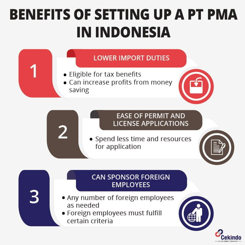 Benefits of setting up a PT PMA in Indonesia - infographic