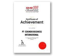 SME 100 Award 2020 - Cekindo